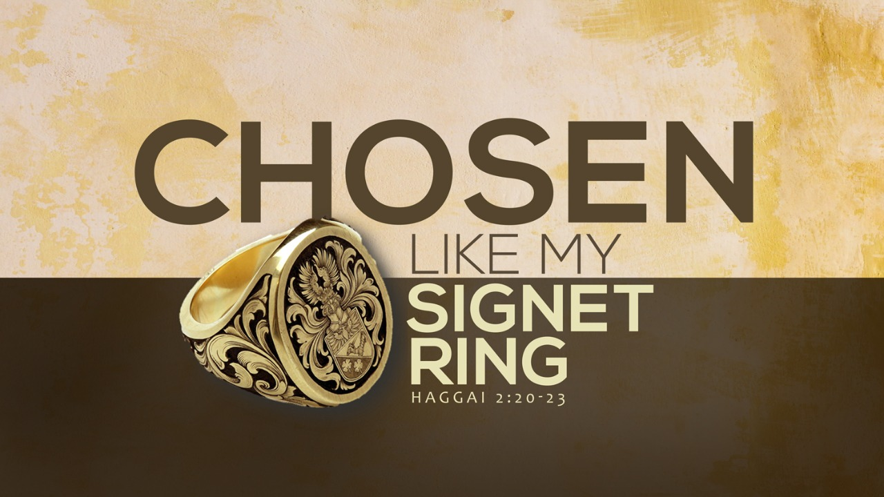 Chosen | Like My Signet Ring | Haggai 2:20-23