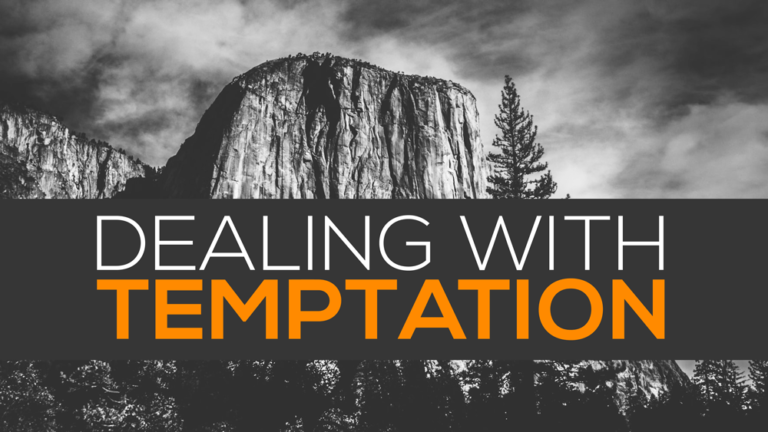 How To Deal With Temptation? Matthew 4:1-11